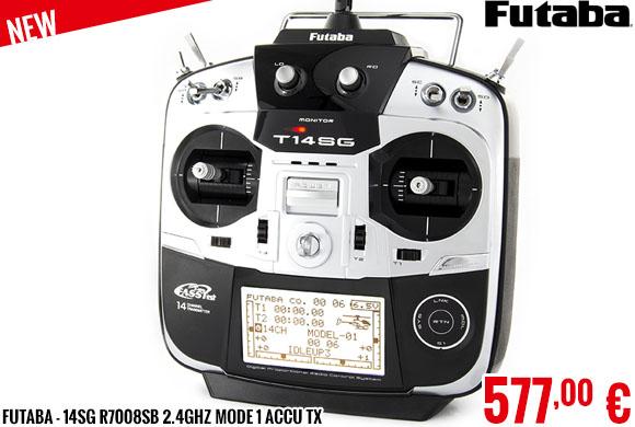 New - Futaba - 14SG R7008SB 2.4GHZ Mode 1 Accu TX