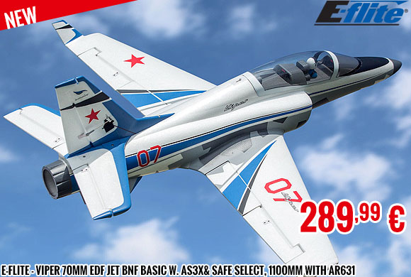 New - E-Flite - Viper 70mm EDF Jet BNF Basic w. AS3X& SAFE Select, 1100mm with AR631
