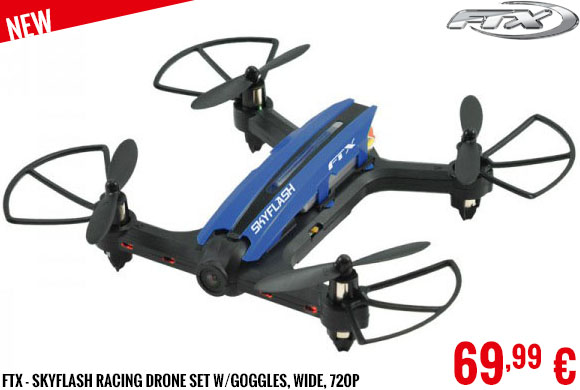 New - FTX - Skyflash Racing Drone set w/Goggles, Wide, 720P