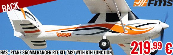 Back - FMS - Plane 850mm Ranger RTF kit (M2) with return to home function