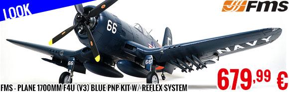 Look - FMS - Plane 1700mm F4U (V3) Blue PNP kit w/ reflex system