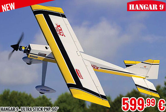 New - Hangar 9 - Ultra Stick PNP, 60