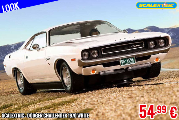 Look - Scalextric - Dodger Challenger 1970 White
