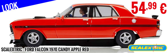 Look - Scalextric - Ford Falcon 1970 Candy Apple Red
