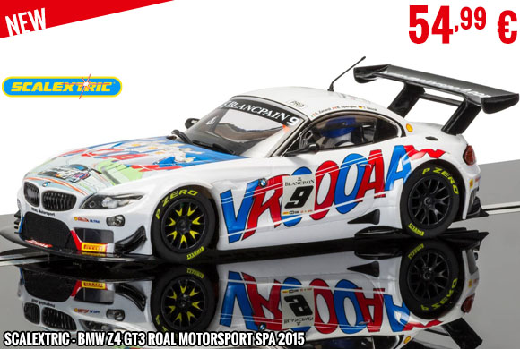 New - Scalextric - BMW Z4 GT3 Roal Motorsport SPA 2015