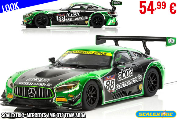 Look - Scalextric - Mercedes AMG GT3 Team ABBA