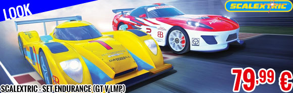 Look - Scalextric - Set Endurance (GT V LMP)