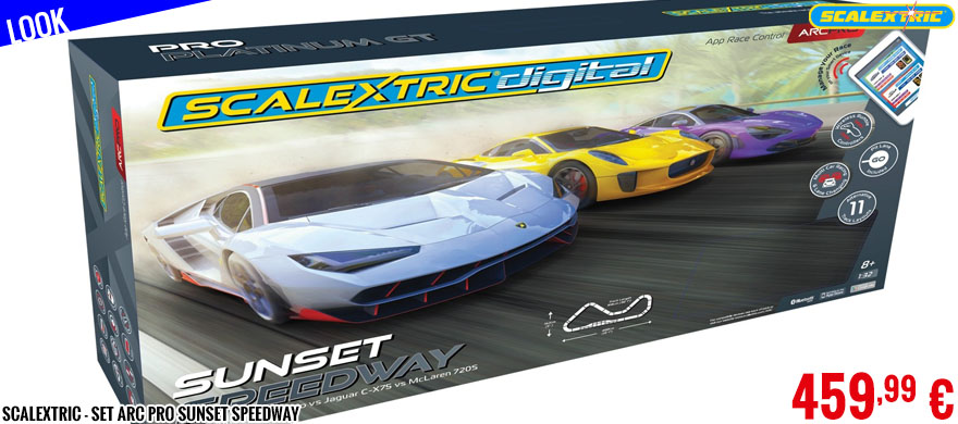 Look - Scalextric - Set ARC Pro Sunset Speedway