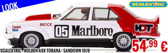Look - Scalextric - Holden A9X Torana - Sandown 1978