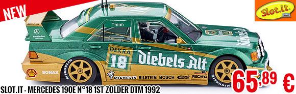New - Slot.it - Mercedes 190E n°18 1st Zolder DTM 1992