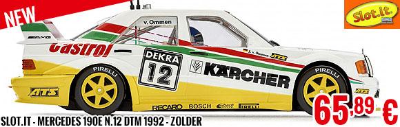 New - Slot.it - Mercedes 190E n.12 DTM 1992 - Zolder