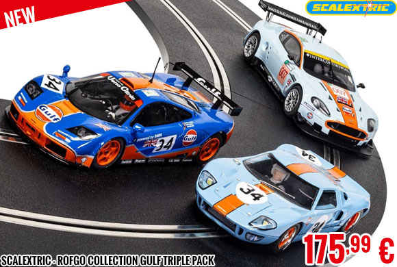 Look - Scalextric - ROFGO Collection Gulf Triple Pack
