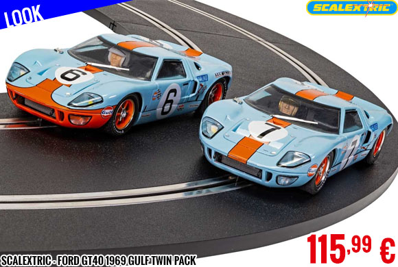 Look - Scalextric - Ford GT40 1969 Gulf Twin Pack