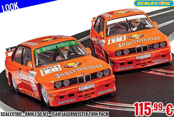 Look - Scalextric - BMW E30 M3 - Team Jagermeister Twin Pack