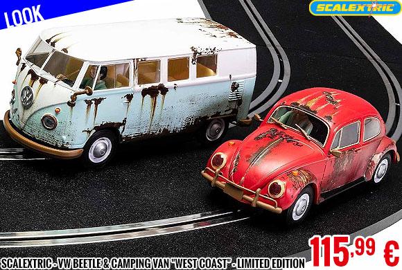 Look - Scalextric - VW Beetle & Camping Van