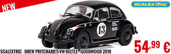 New - Scalextric - Drew Pritchard's VW Beetle - Goodwood 2018