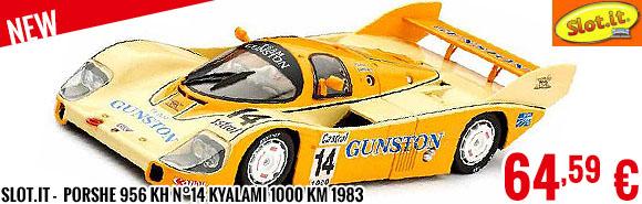 New - Slot.it -  Porshe 956 KH n°14 Kyalami 1000 km 1983