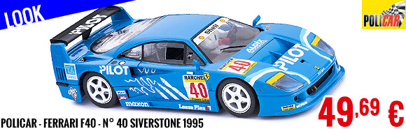 Look - Policar - Ferrari F40 - n° 40 Siverstone 1995