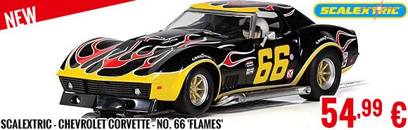New - Scalextric - Chevrolet Corvette - No. 66 'Flames'