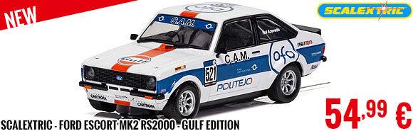 New - Scalextric - Ford Escort MK2 RS2000 - Gulf Edition