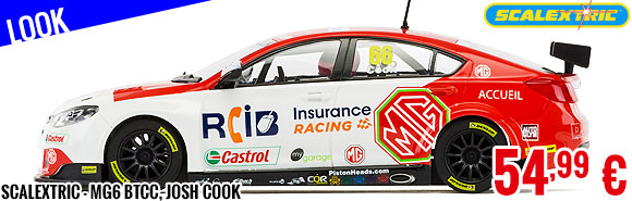 Look - Scalextric - MG6 BTCC, Josh Cook