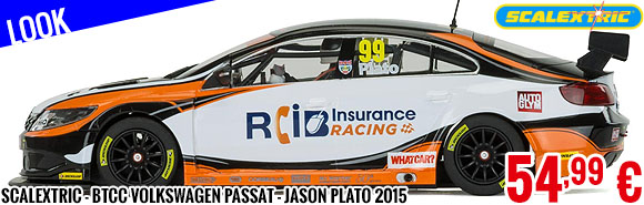 Look - Scalextric - BTCC Volkswagen Passat - Jason Plato, Brands Hatch 2015