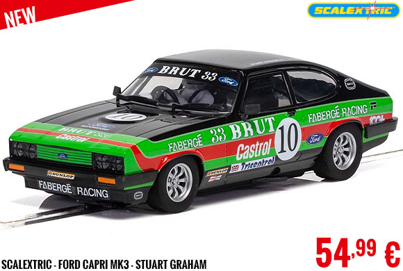 New - Scalextric - Ford Capri MK3 - Stuart Graham
