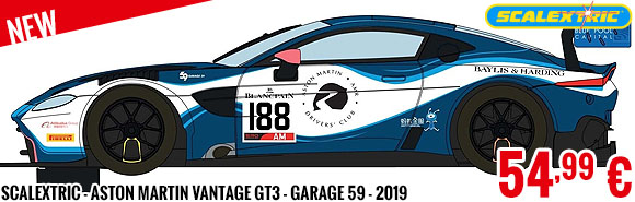 New - Scalextric - Aston Martin Vantage GT3 - Garage 59 - 2019