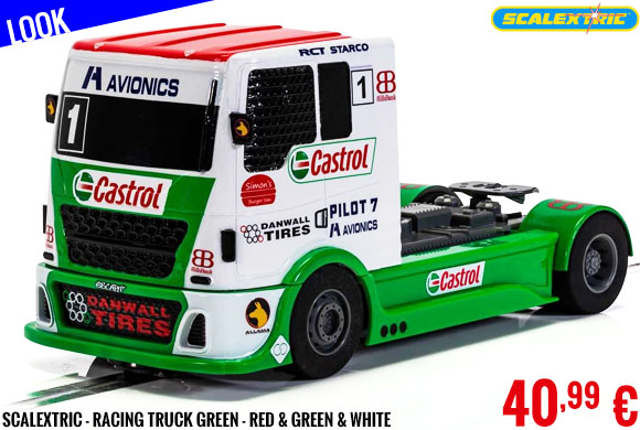 Look - Scalextric - Racing Truck Green - Red & Green & White