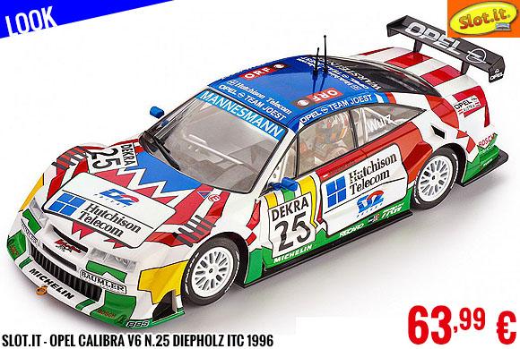 Look - Slot.it - Opel Calibra V6 n.25 Diepholz ITC 1996