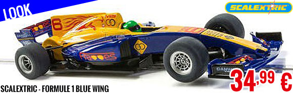 Look - Scalextric - Formule 1 Blue Wing