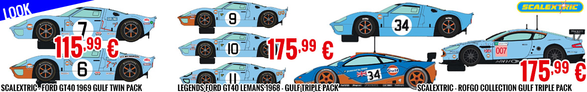 Look - Scalextric Special Gulf Racing