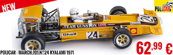 New - Policar - March 701 n°24 Kyalami 1971