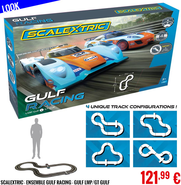 Look - Scalextric - Ensemble Gulf Racing - Gulf LMP/GT Gulf