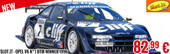 New - Slot.it - Opel V6 n°7 DTM Winner 1996