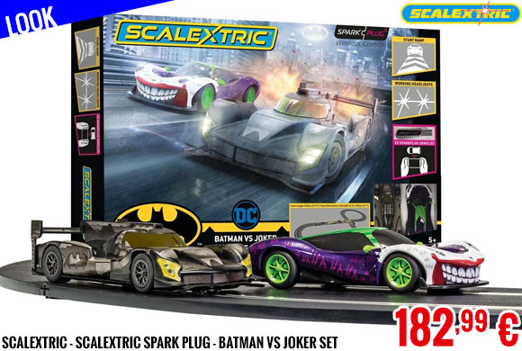 Look - Scalextric - Scalextric Spark Plug - Batman vs Joker Set