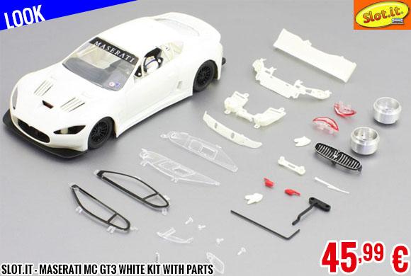 Look - Slot.it - Maserati MC GT3 White Kit with parts