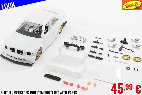 Look - Slot.it - Mercedes 190E DTM White Kit with parts