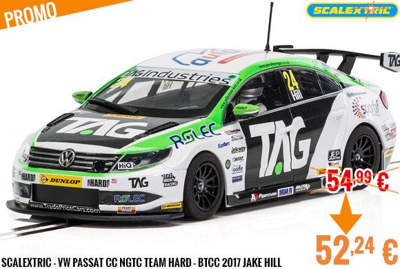 Promo - Scalextric - VW Passat CC NGTC Team HARD - BTCC 2017 Jake Hill