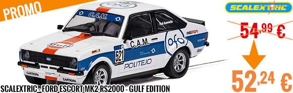 Promo - Scalextric - Ford Escort MK2 RS2000 - Gulf Edition