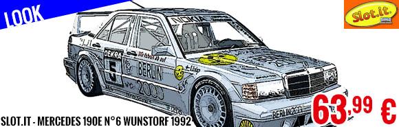 Look - Slot.it - Mercedes 190E N°6 Wunstorf 1992