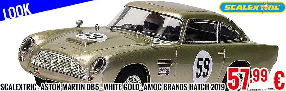 Look - Scalextric - Aston Martin DB5 - White Gold - AMOC Brands Hatch 2019