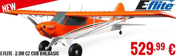 New - E-Flite - 2.0m CZ Cub BNF Basic
