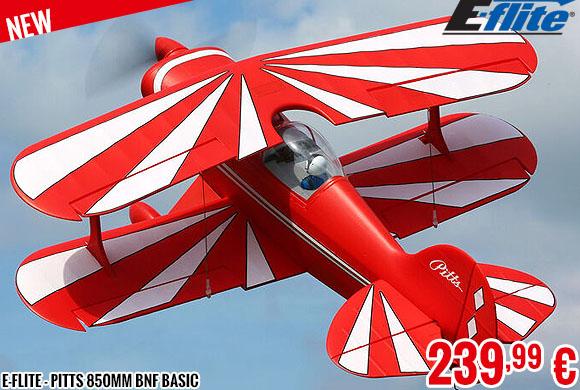 New - E-Flite - Pitts 850mm BNF Basic