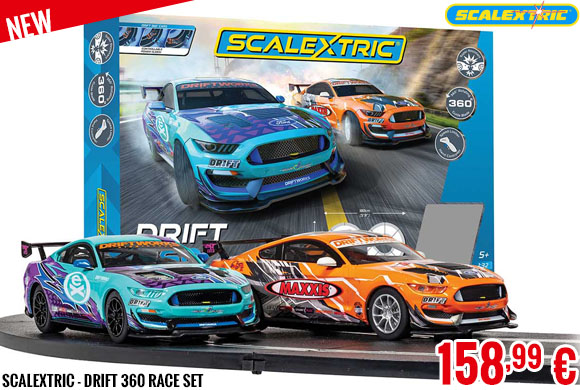 New - Scalextric - Drift 360 Race Set