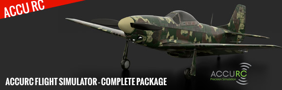 AccuRC Flight Simulator - complete package